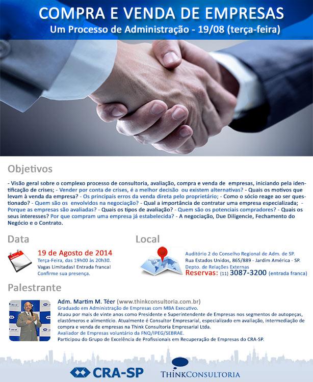 evento sobre compra e venda de empresas