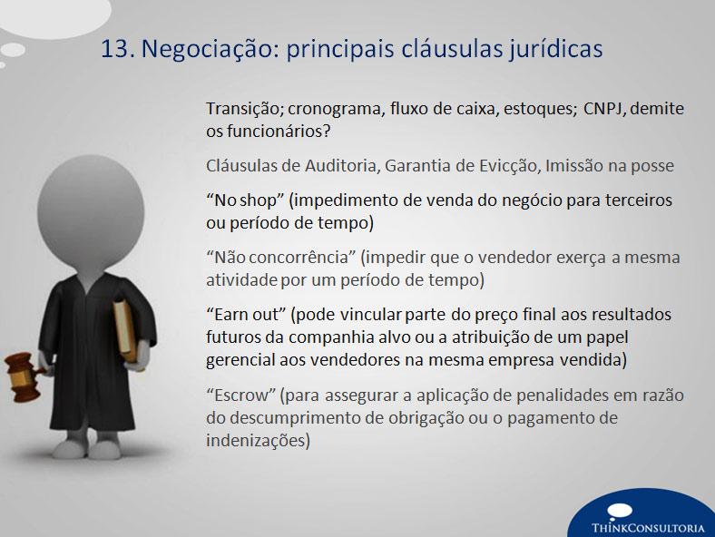clausulas jurídicas para compra e venda de uma empresa