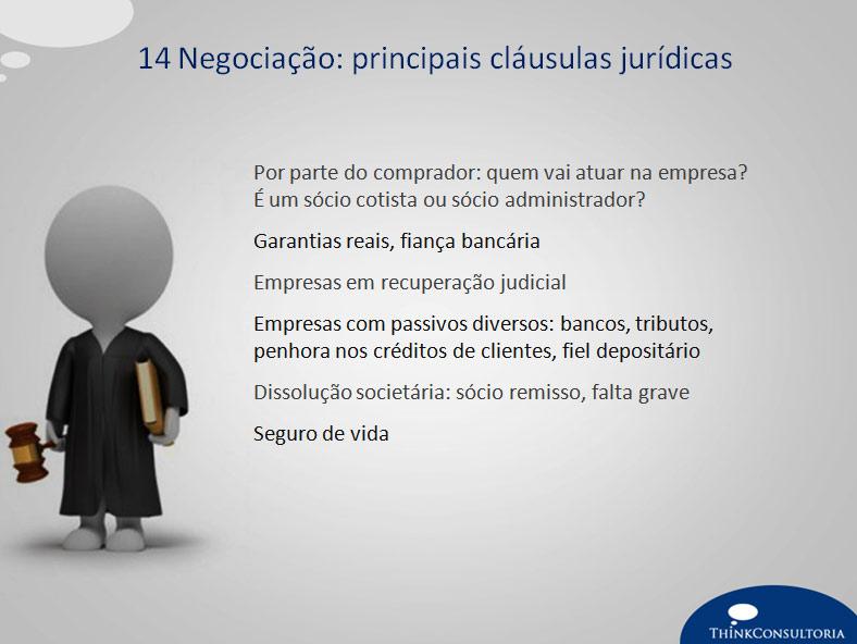 clausulas jurídicas para negociar uma empresa